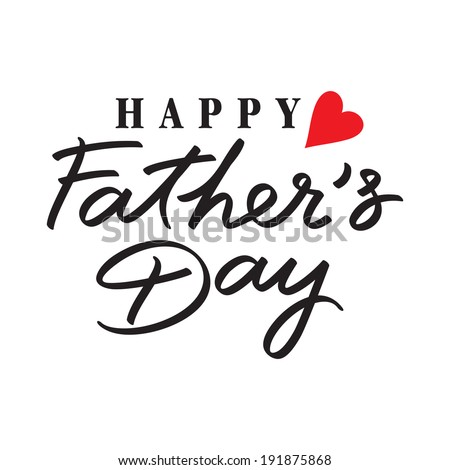 happy fathers day hand lettering handmade calligraphy  - stock vector