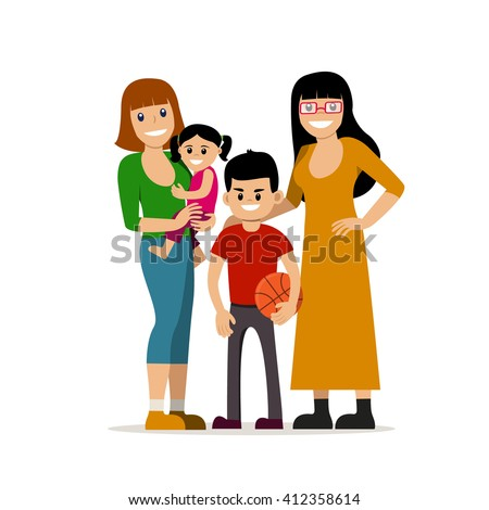 gay families illustrations