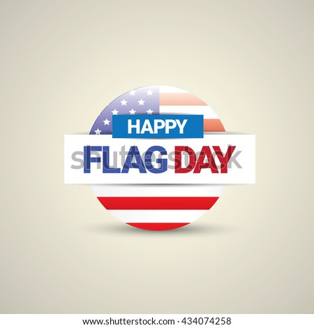 Happy flag day vector background. flag day USA banner. Happy flag day badge. Flag day Sale - stock vector