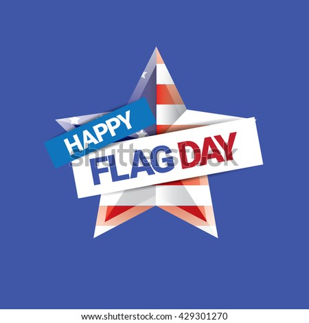 Happy flag day vector background. flag day USA banner. Happy flag day greeting card. Flag day Sale - stock vector