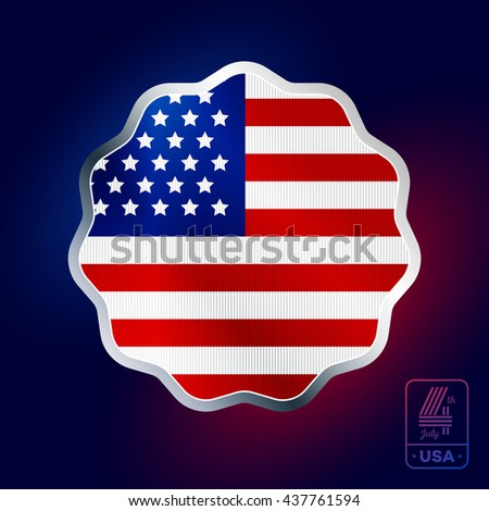 Happy fourth of July. Vector elements for American Independence Day on white background - stock vector