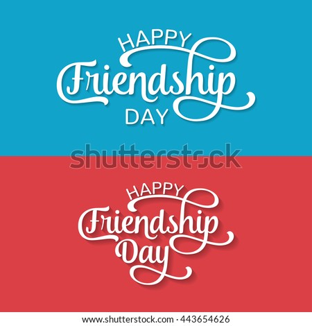 Happy Friendship Day Greeting Card Poster Stock Vector 443654626