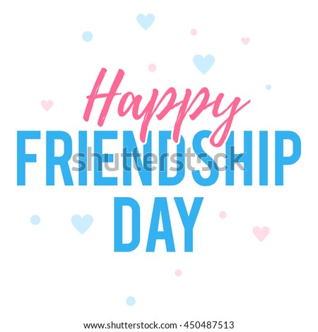 Happy Friendship Day Greeting Card Colr Stock Vector