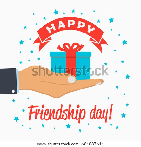 Happy Friendship Day Template Greeting Card Stock Vector 683403811