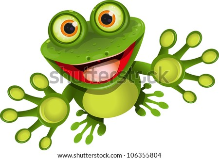 happy frog - stock vector