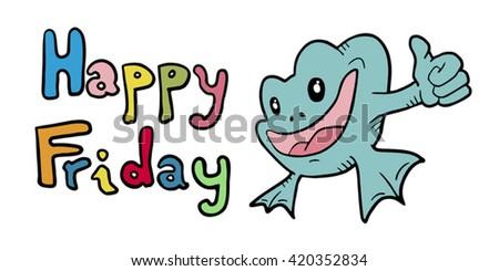 happy frog - stock vector