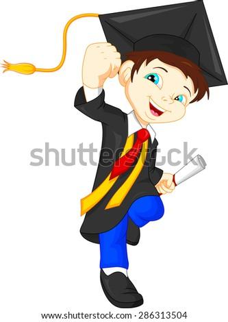 Happy graduate - stock vector