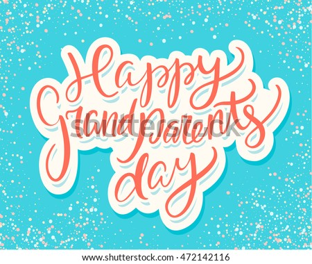 Happy grandparents day greeting card stock vector 472142116 happy grandparents day greeting card m4hsunfo
