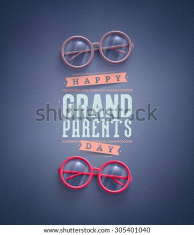 Happy Grandparents Day, greeting card, eps 10 - stock vector