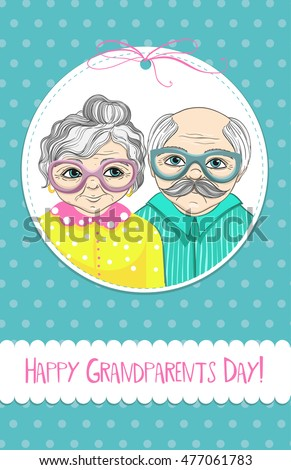 Happy grandparents day greeting card vector stock vector royalty happy grandparents day greeting card vector illustration m4hsunfo