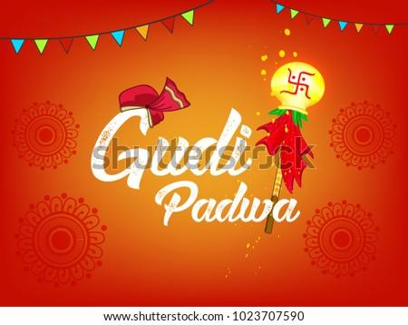 Happy gudi padwa marathi new year stock vector royalty free happy gudi padwa marathi new year lunar new year festival editable vector m4hsunfo