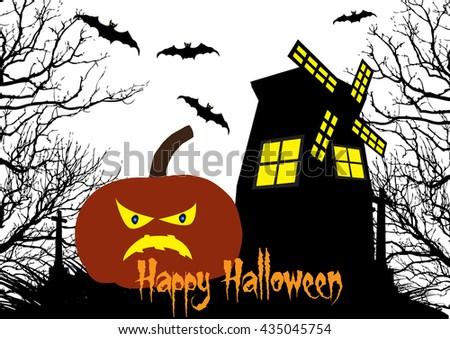 Happy Halloween background  - stock vector