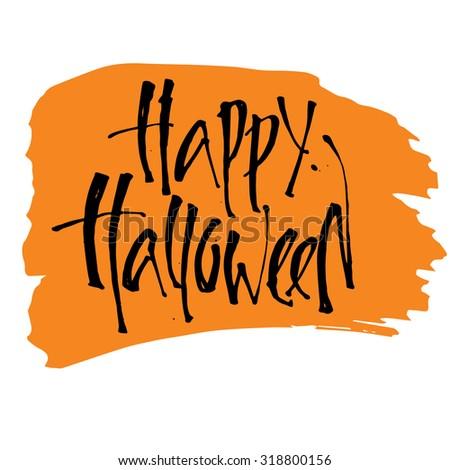 Happy Halloween Calligraphy Halloween Banner Halloween Stock ...