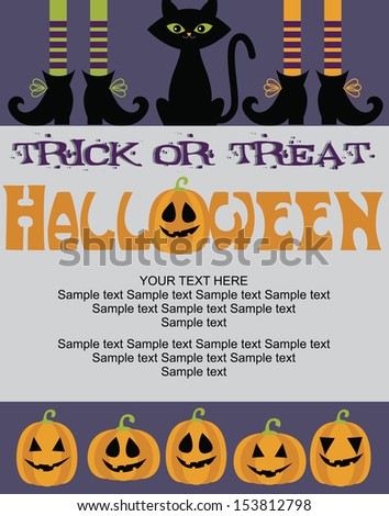 happy halloween card design. vector illustration - stock vector