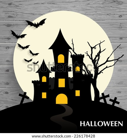 Happy Halloween design background. Vector illustration. - stock vector