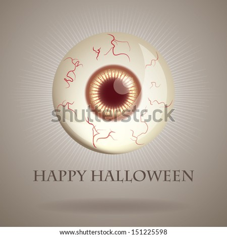 Happy Halloween Eye - stock vector