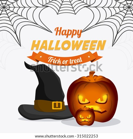 Happy halloween festival party cards, vector illustration.