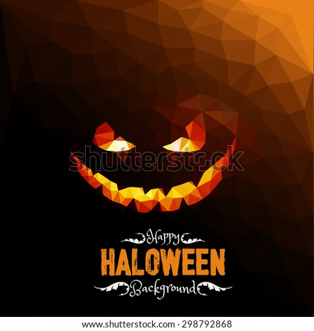 Happy Halloween Geometrical Background. Vector Eps.10 - stock vector