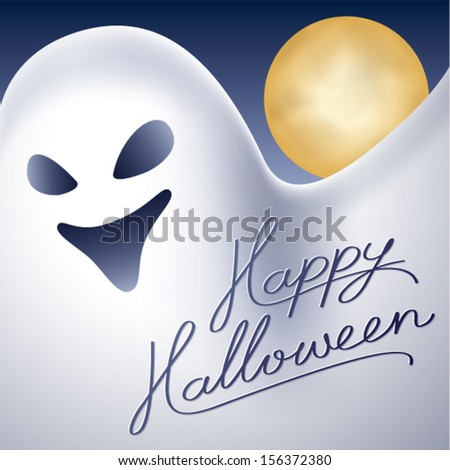 Happy Halloween Ghost - stock vector
