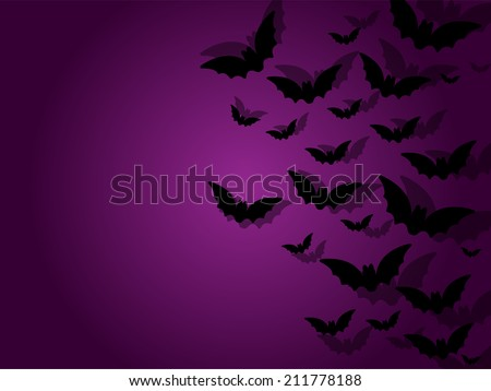 Happy Halloween Ghost Bat Icon Background - stock vector