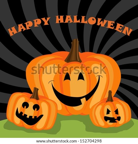 Happy halloween greeting - stock vector