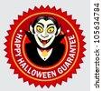 Happy Halloween Guarantee Seal / Label - stock vector