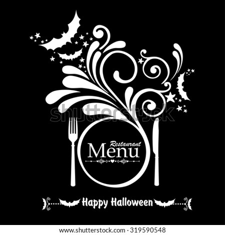 Happy Halloween. Halloween Menu Template. vector illustration  - stock vector