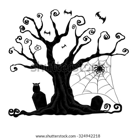 Halloween Trees Stock Images, Royalty-Free Images & Vectors ...