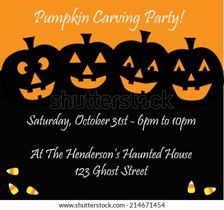 Happy Halloween Invitation - stock vector