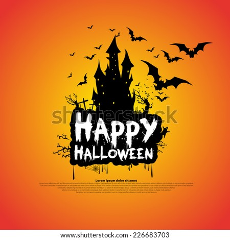 happy halloween message design background vector stock vector