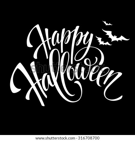 Happy Halloween message design background. Vector illustration EPS 10 - stock vector