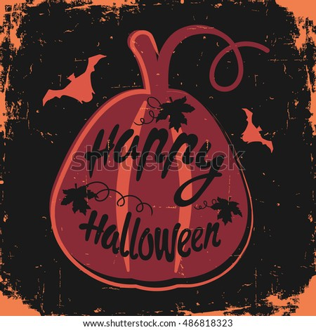 Happy halloween message design background vector stock vector happy halloween message design background vector illustration this illustration can be used as a m4hsunfo