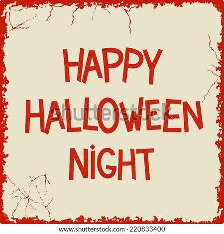 Happy Halloween Night retro lettering desigh. Vector eps 8 - stock vector