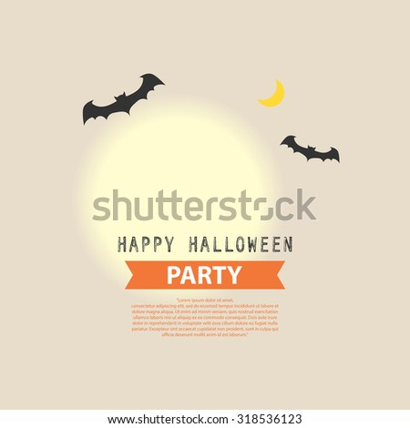 Happy Halloween Party background illustration vector design