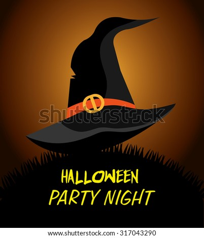 Happy halloween party festival, vector illustration eps 10. - stock vector