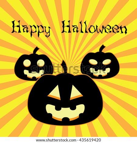 Happy Halloween Poster. Vector illustration. - stock vector