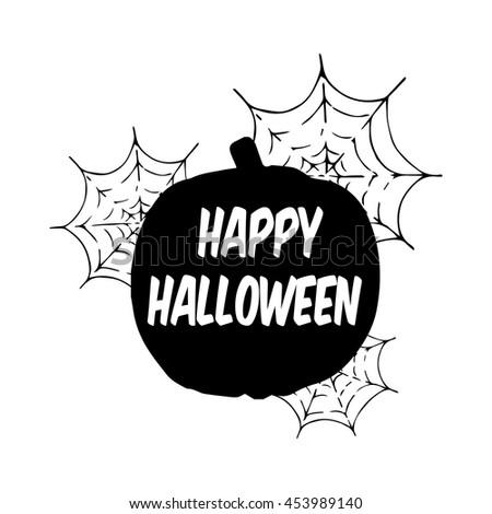 Happy Halloween. Pumpkin. Vector illustration. - stock vector