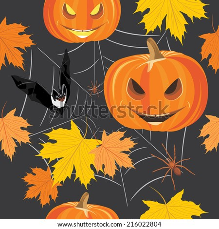 Happy Halloween. Seamless background for design. Vector