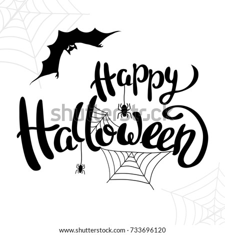 Happy Halloween Template Banner Poster Holiday Stock Vector