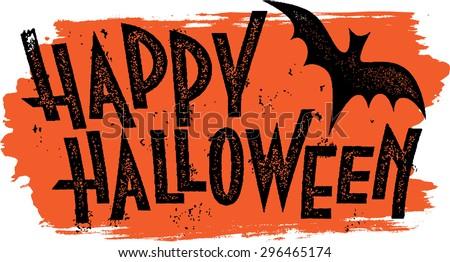 Happy Halloween Text Banner - stock vector