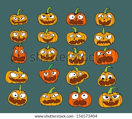 Happy Halloween theme and halloween background pumpkin ghost
