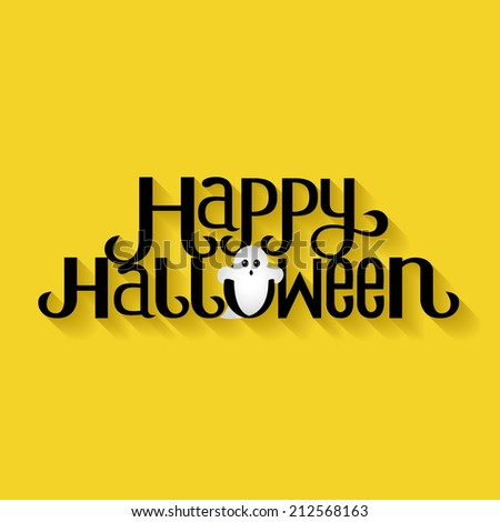 Happy Halloween Typography banner