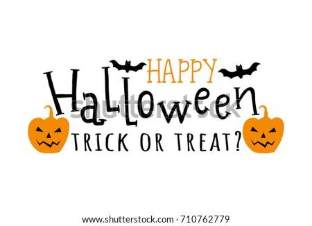 Happy Halloween Vector Halloween Emblem Horror Stock Vector ...