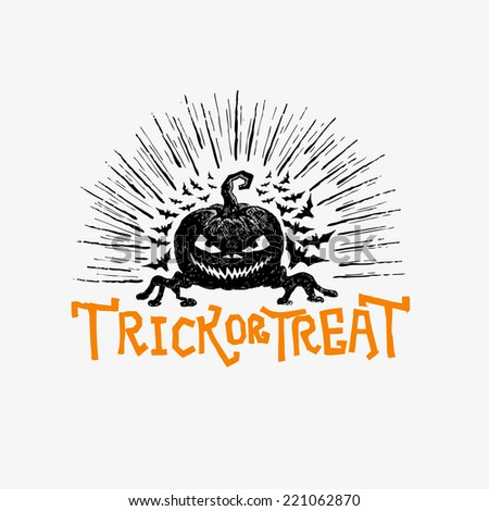Happy Halloween Vector, Hand drawn vector design for halloween - stock vector