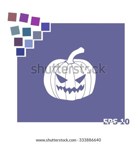 Happy Halloween vector icon