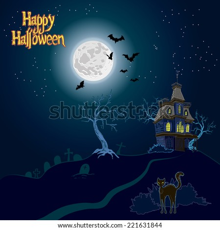 Happy halloween. vector illustration - stock vector