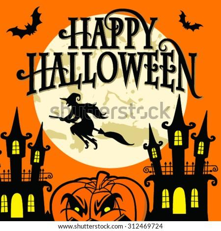 Happy Halloween , vector illustration - stock vector