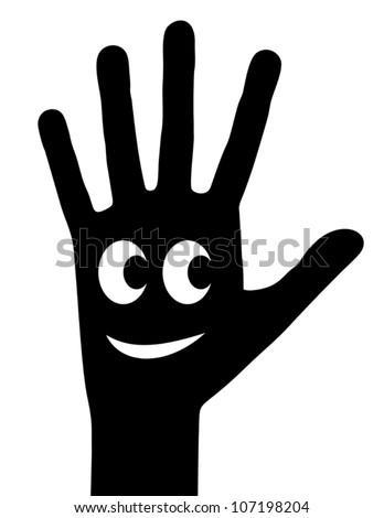 Happy hand - stock vector