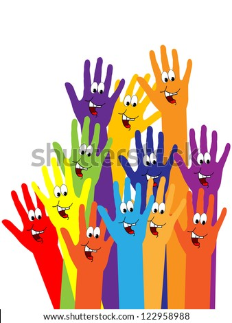 happy hands - stock vector