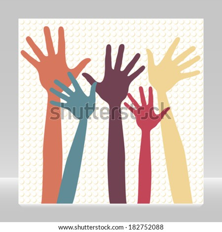 Happy hands.  - stock vector